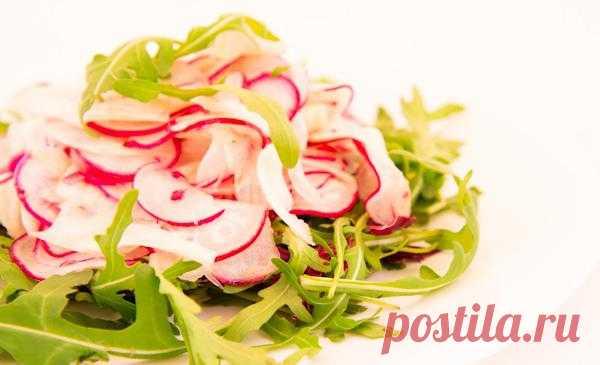 Салат из редиса с фенхелем (можно заменить на идентичный свежий укроп)!