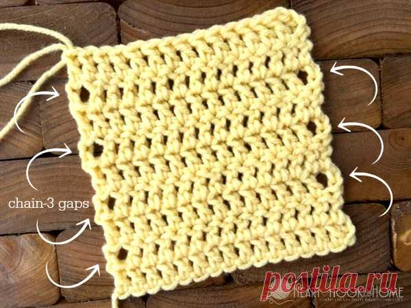 How to receive a smooth edge when knitting by a hook