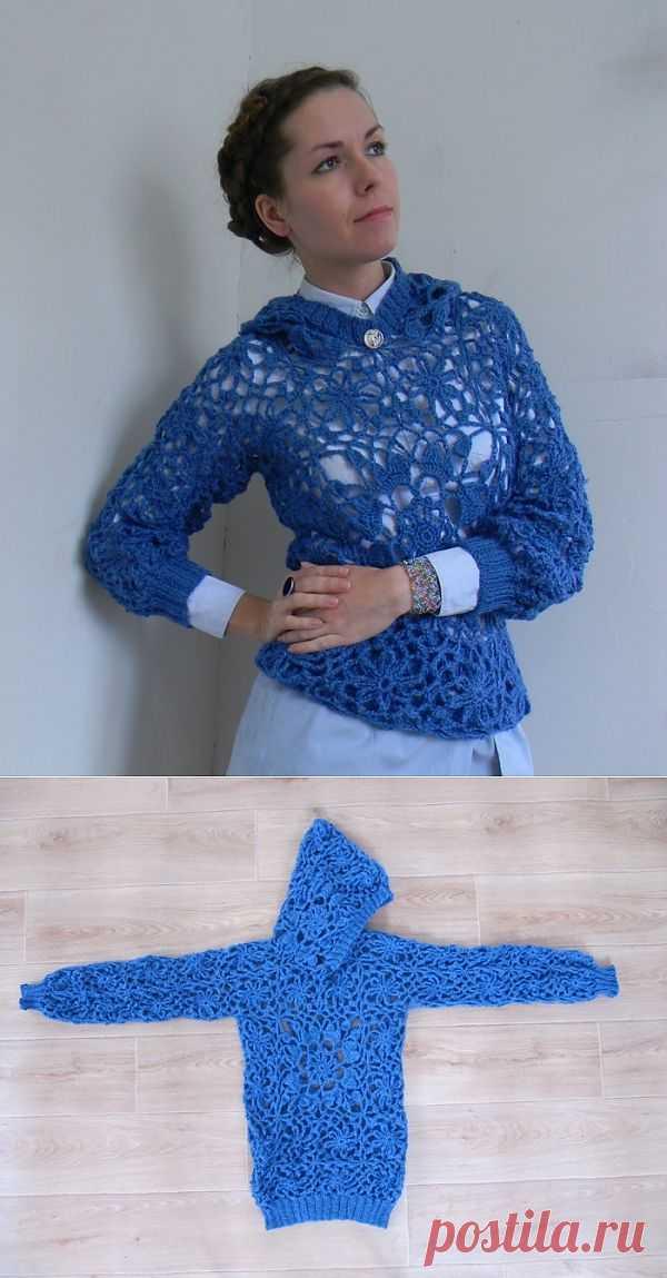 Свитер крючком (DIY), трафик / Вязание / Модный сайт о стильной переделке одежды и интерьера