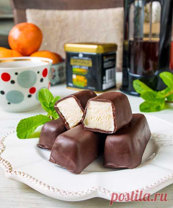 Домашние творожные сырки в в шоколаде