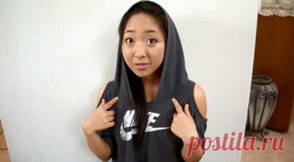 Худи из футболки (Diy) / Футболки DIY / Модный сайт о стильной переделке одежды и интерьера