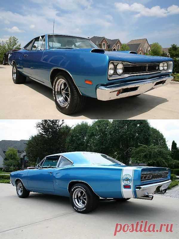 1969 Dodge Super Bee Superbee, Blue.
