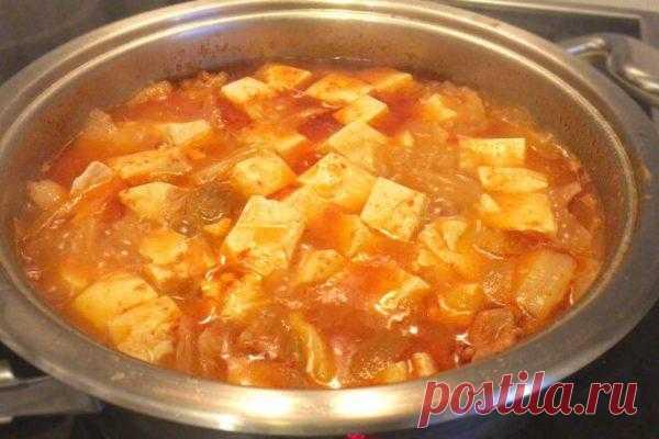 Острый корейский суп Кимчи Тиге со свининой и кимчи, рецепт с фото и видео   Вкусные кулинарные рецепты