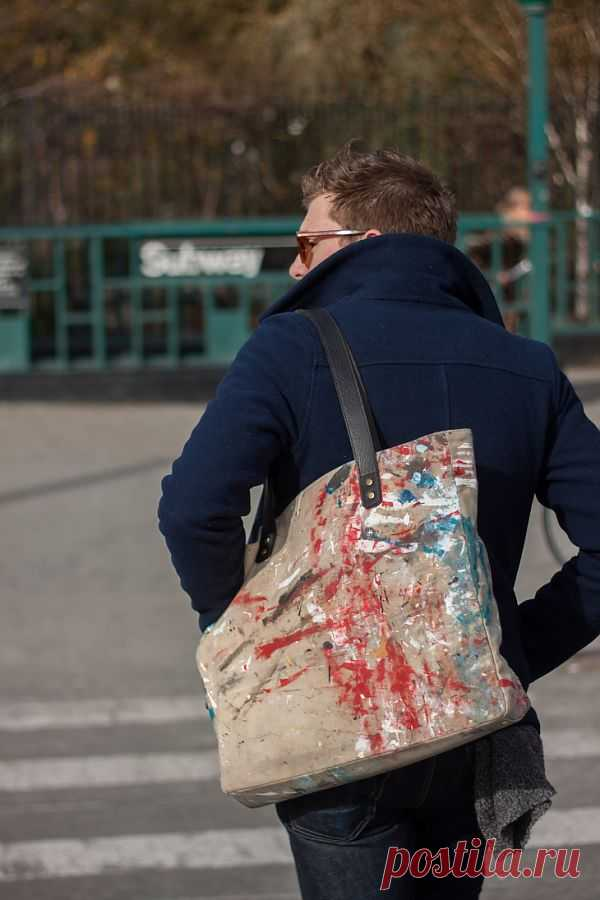 Прикольная сумка / Пачкаем / Модный сайт о стильной переделке одежды и интерьера