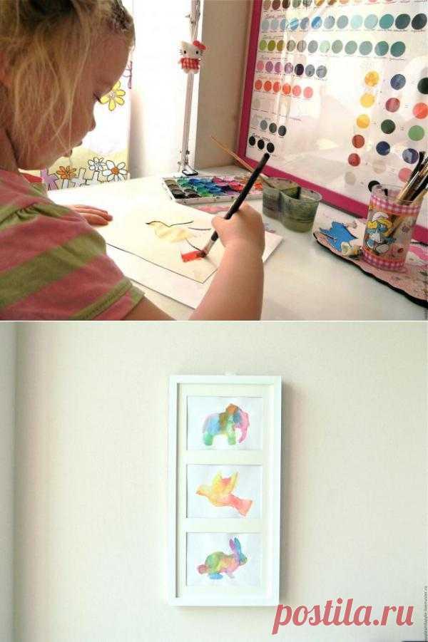 Картина для украшения интерьера руками ребенка