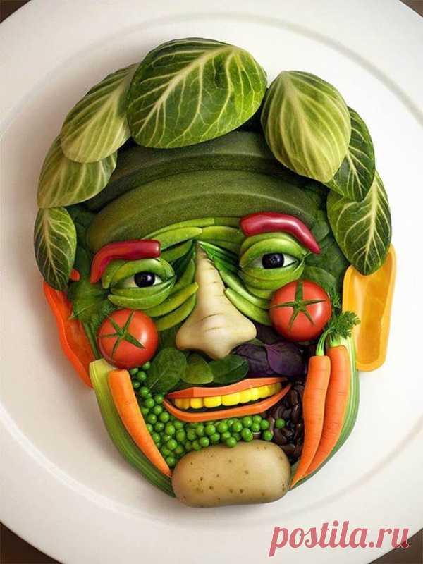 Человек овощ. Шедевры из еды.