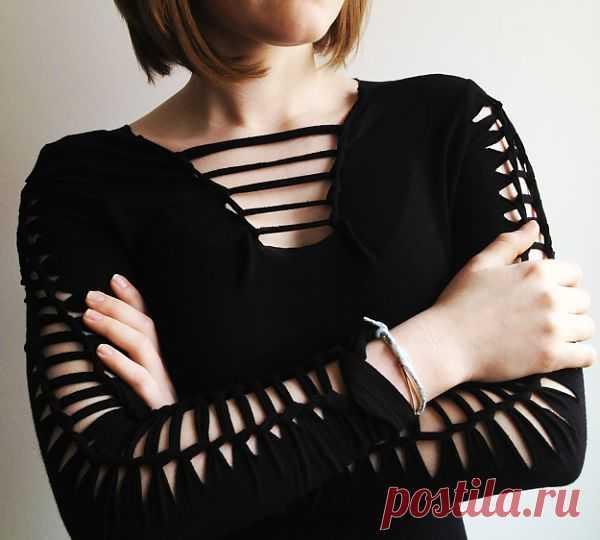 Прорезная футболка (DIY) / Прорези / Модный сайт о стильной переделке одежды и интерьера