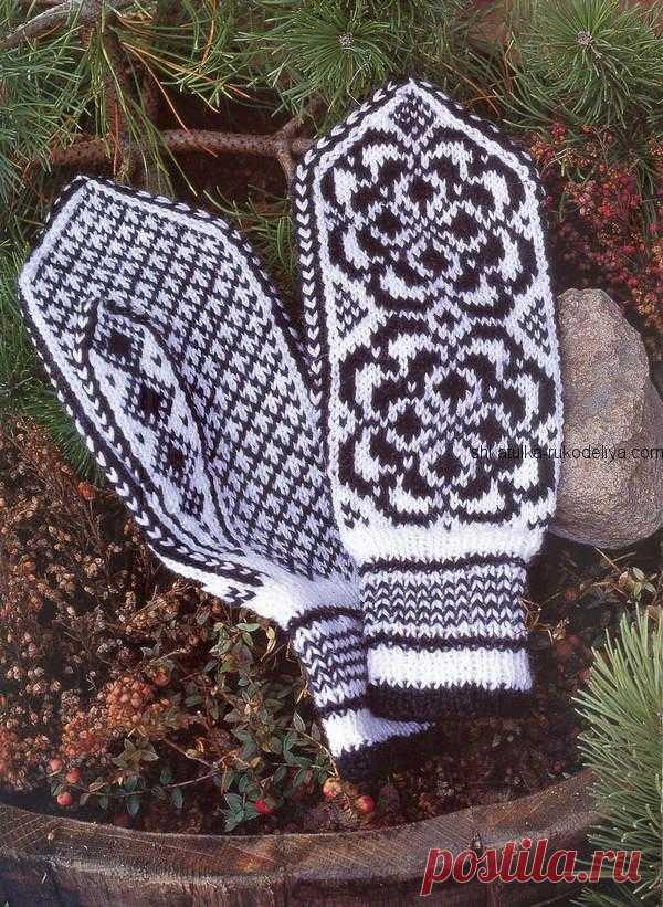 Варежки с норвежским  орнаментом Варежки с норвежским орнаментом спицами. Как связать красивые женские варежки спицами