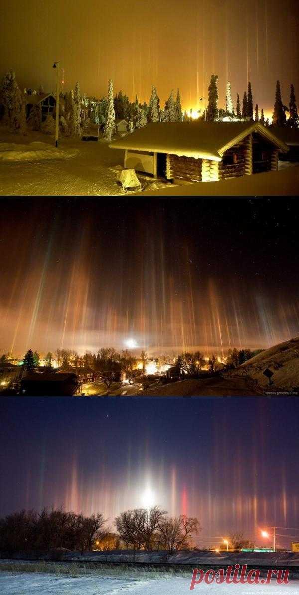 Блоги@Mail.Ru: Столбы света: зимнее атмосферное чудо
