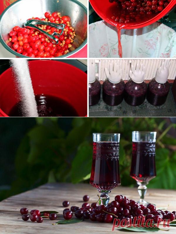 Вишневая вино в домашних условиях на водке