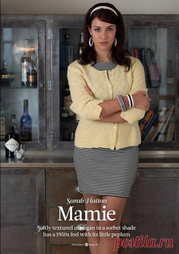 Вязание жакета Mamie, The Knitter 57
