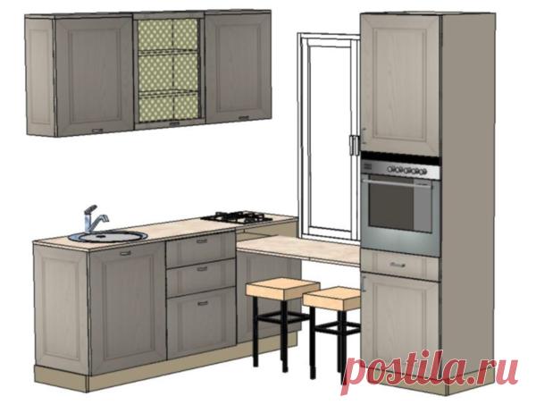 На кухне в 5 квадратов не было места даже для одного пенала, однако уместились целых два:) | Кухмастер | Яндекс Дзен