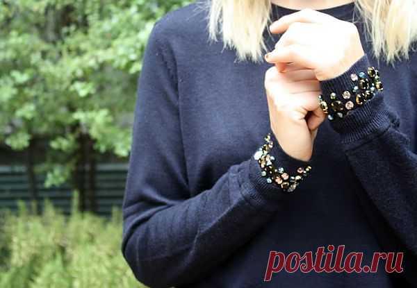Браслеты на свитере / Свитер / Модный сайт о стильной переделке одежды и интерьера