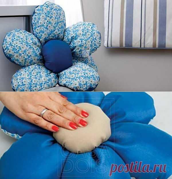 Как сшить двухстороннюю подушку своими руками.