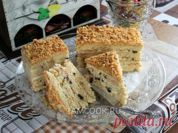 Торт с черносливом и сметанным кремом | Лилёша - Волшебный сундучок |
