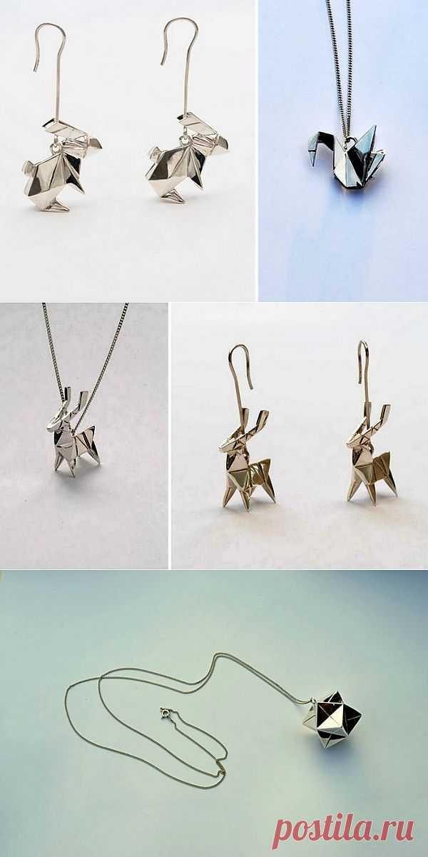 Оригами из серебра и золота / Вещь / Модный сайт о стильной переделке одежды и интерьера
