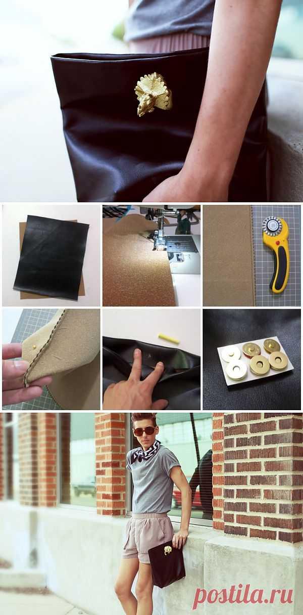Клатч-пакет с динозавром (DIY) / Сумки, клатчи, чемоданы / Модный сайт о стильной переделке одежды и интерьера