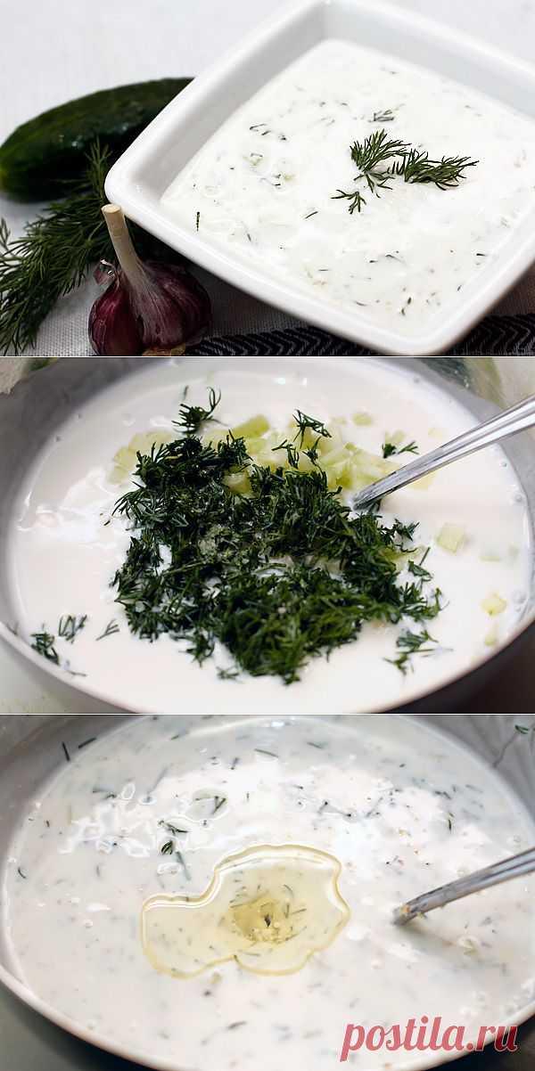 Легкий освежающий летний суп. Классический рецепт включает кислое молоко (простоквашу) и толченые грецкие орехи, хотя лично мне без орехов нравится даже больше.