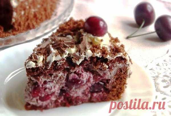 Торт пьяная вишня классический рецепт | Мама Люба | Яндекс Дзен