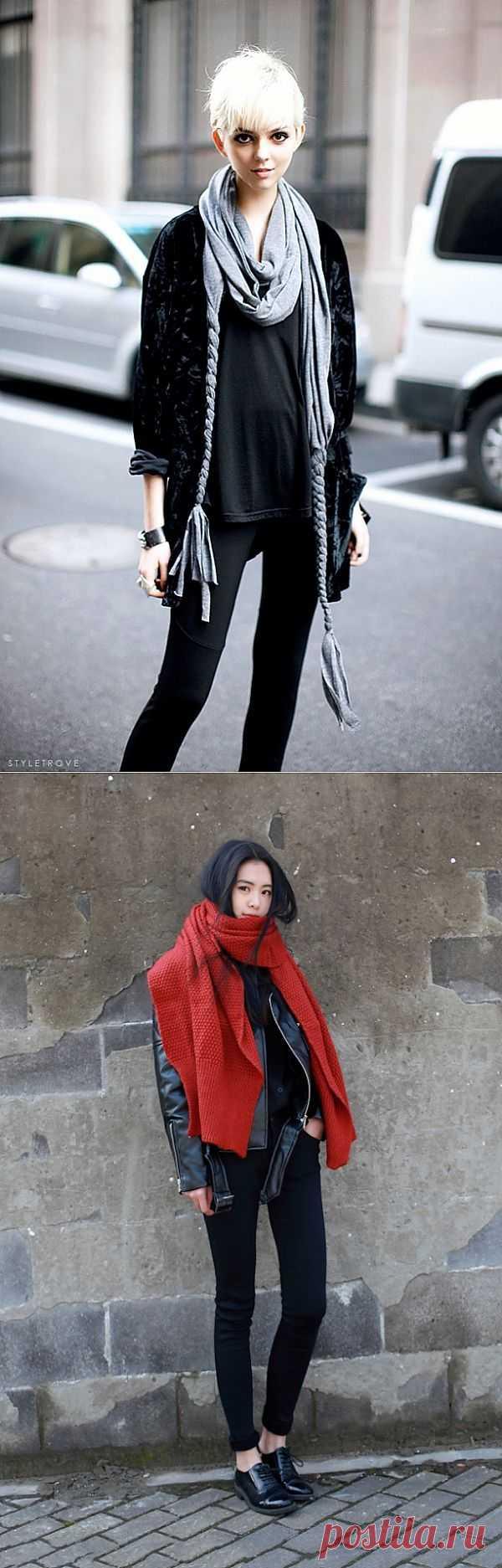 Два интересных шарфика / Шарфы / Модный сайт о стильной переделке одежды и интерьера