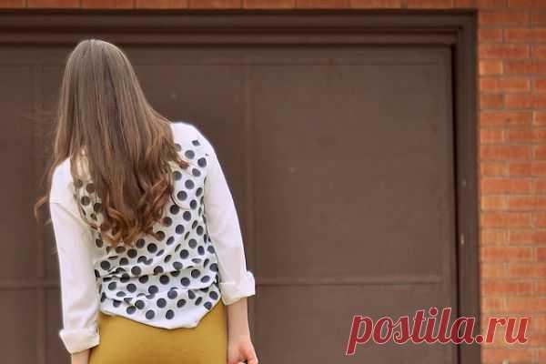 Горох на спинке (мастер - класс) / Рубашки / Модный сайт о стильной переделке одежды и интерьера
