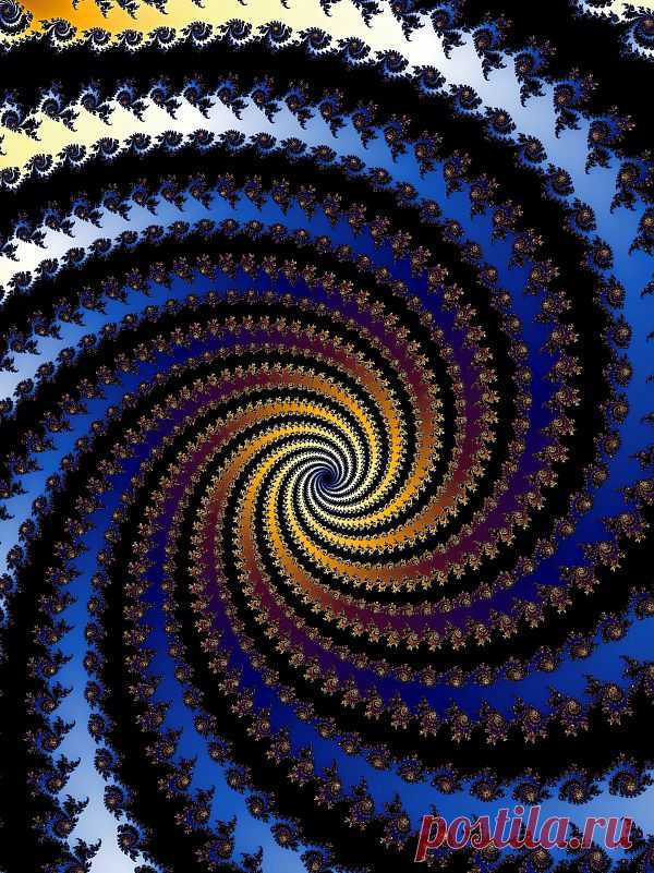 Patterned Fractal Spiral  Free Stock Photo HD - Public Domain Pictures