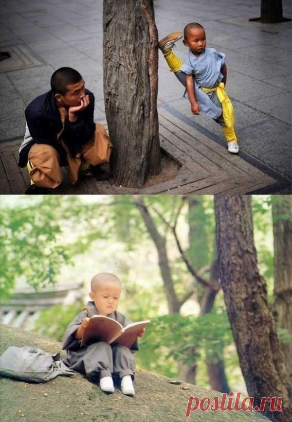 Los monjes completamente jóvenes de Shaolin – serio inadecuado a la edad