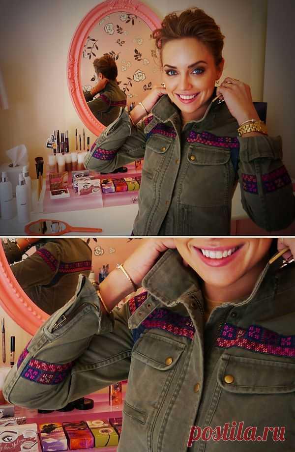 Вышитая тесьма на парке / Курточные переделки / Модный сайт о стильной переделке одежды и интерьера