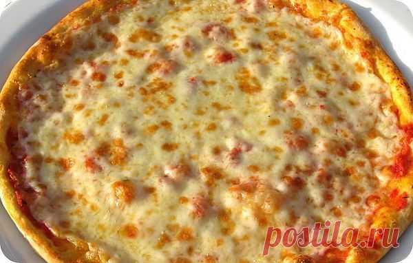 """Пицца """"Маргарита"""" с сыром - каждый любитель пиццы должен её приготовить!"""
