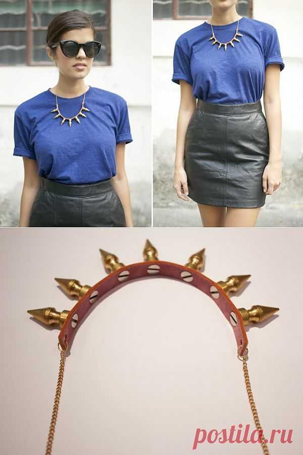 Ожерелье из шипов (мастер-класс) / Украшения и бижутерия / Модный сайт о стильной переделке одежды и интерьера