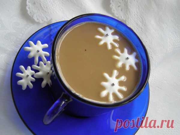 Снежинки к кофе