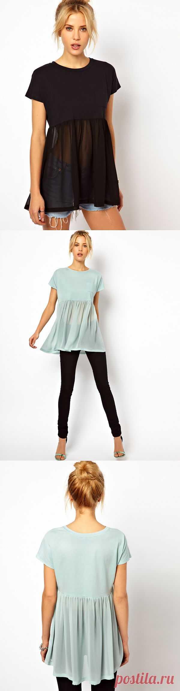 Простейший топ ASOS / Футболки DIY / Модный сайт о стильной переделке одежды и интерьера