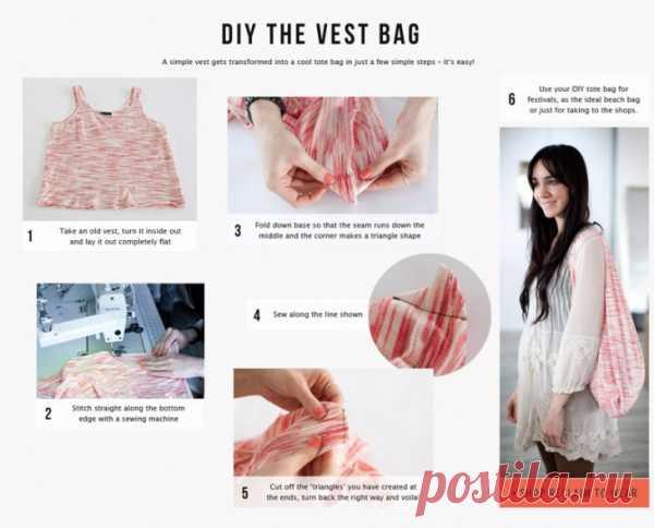 Сумка из майки (Diy) / Креатив / Модный сайт о стильной переделке одежды и интерьера