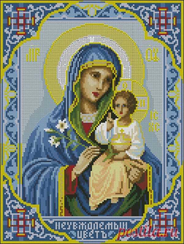 Схема вышивки «николай чудотворец», вышивка крестиком иконы.