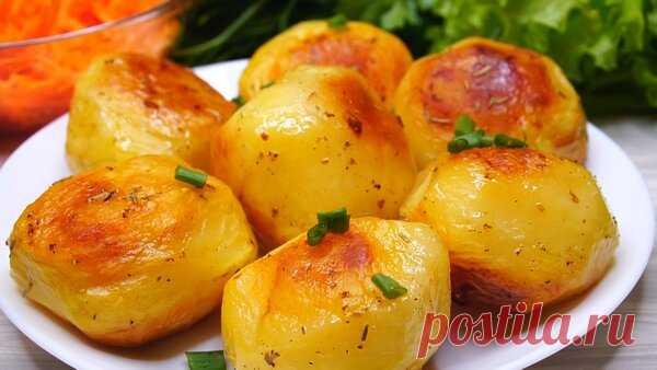 Картофель в духовке с хрустящей корочкой   Готовим с Калниной Натальей   Яндекс Дзен