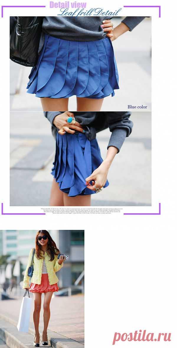 Шорты превращаются в.... юбку:) / Шорты / Модный сайт о стильной переделке одежды и интерьера
