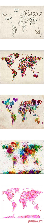 Креативные карты мира.