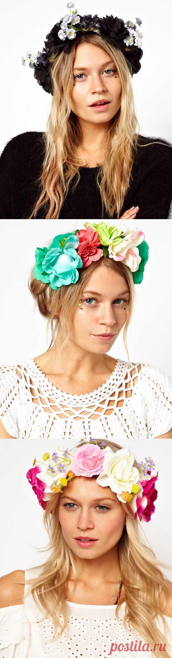 Венки на голову из цветов (подборка разных) / Украшения для волос / Модный сайт о стильной переделке одежды и интерьера