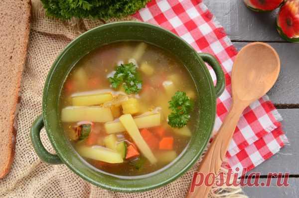 Овощной суп с цукини - My izumrud