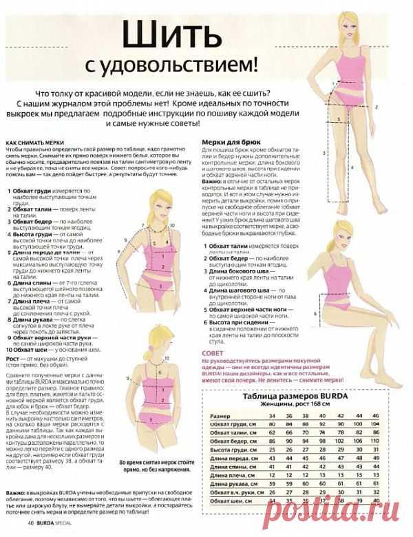 Как снять свои мерки / Простые выкройки / Модный сайт о стильной переделке одежды и интерьера