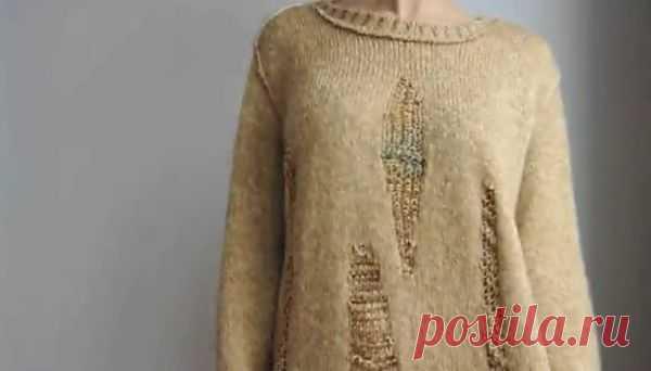 Как красиво порвать свитер (DIY) / Свитер / Модный сайт о стильной переделке одежды и интерьера