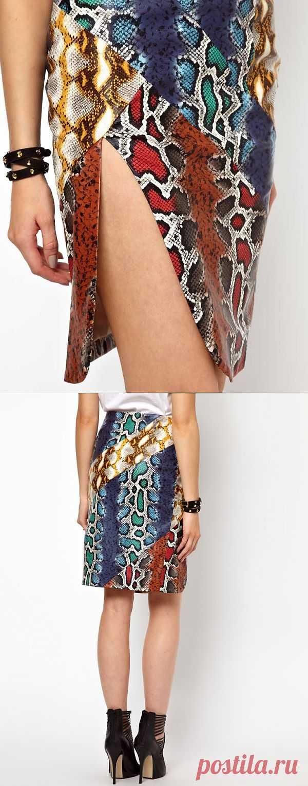 Юбка-пэчворк из кожи под змею / Пэчворк / Модный сайт о стильной переделке одежды и интерьера