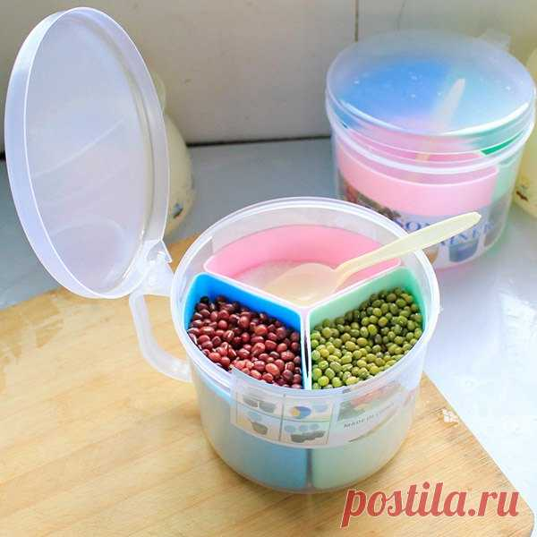 La moda Tres redes Multifuncionales el boxeo de cocina para el almacenaje de una pequeña cucharilla (Vivo) | Sammydress.com