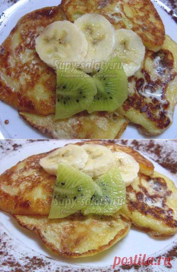 Кисло-сладкие оладьи с киви и бананом.