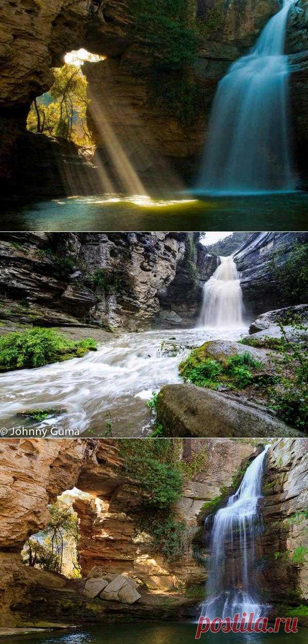 Водопад Кантонигрос и природный бассейн