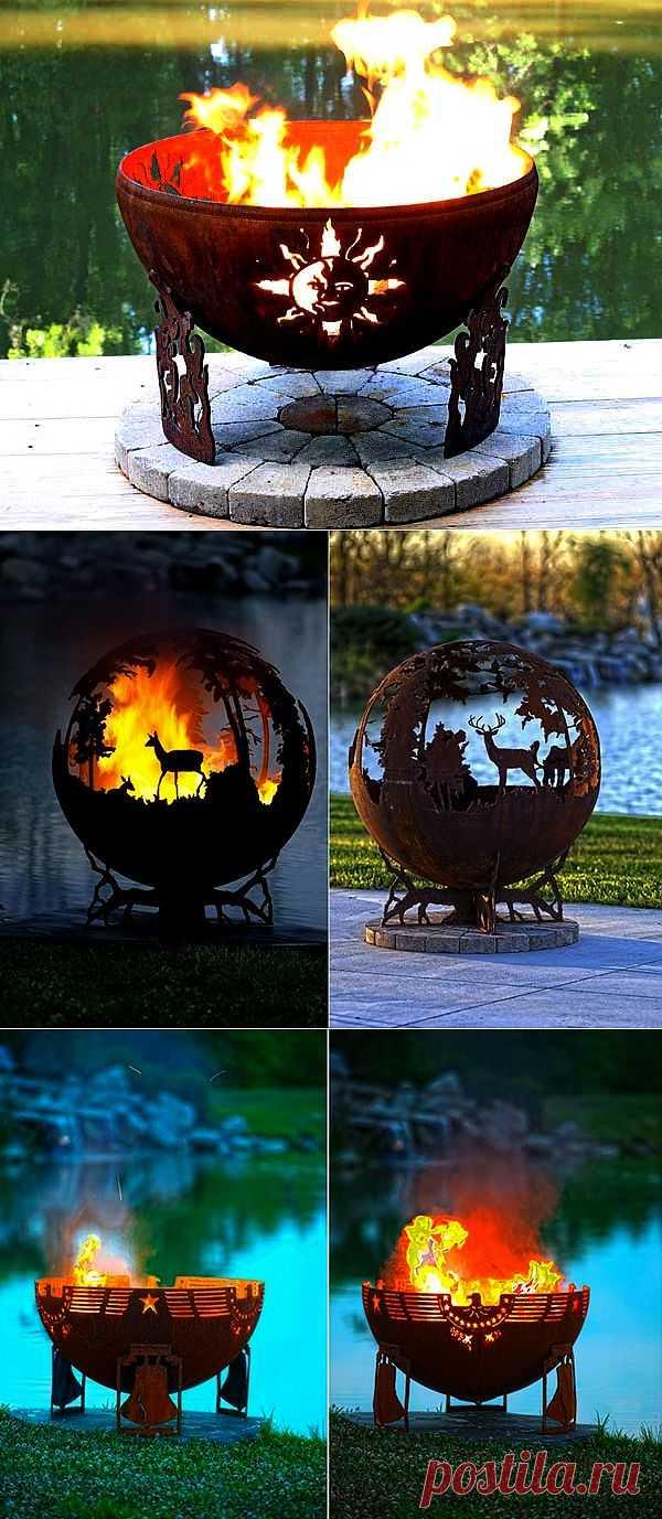 Оригинальные огненные чаши для дачного участка