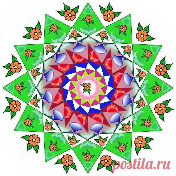 Digital Mandala  Free Stock Photo HD - Public Domain Pictures