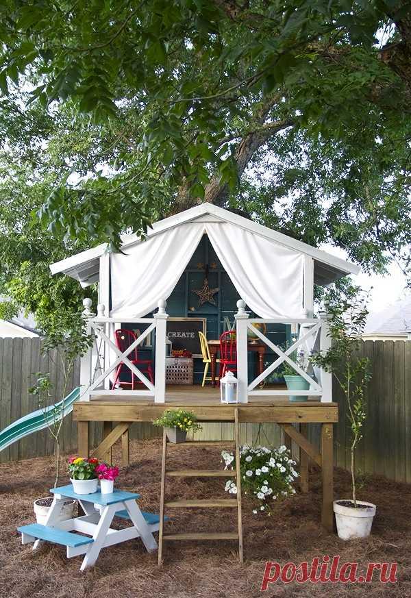 La casita para los niños.