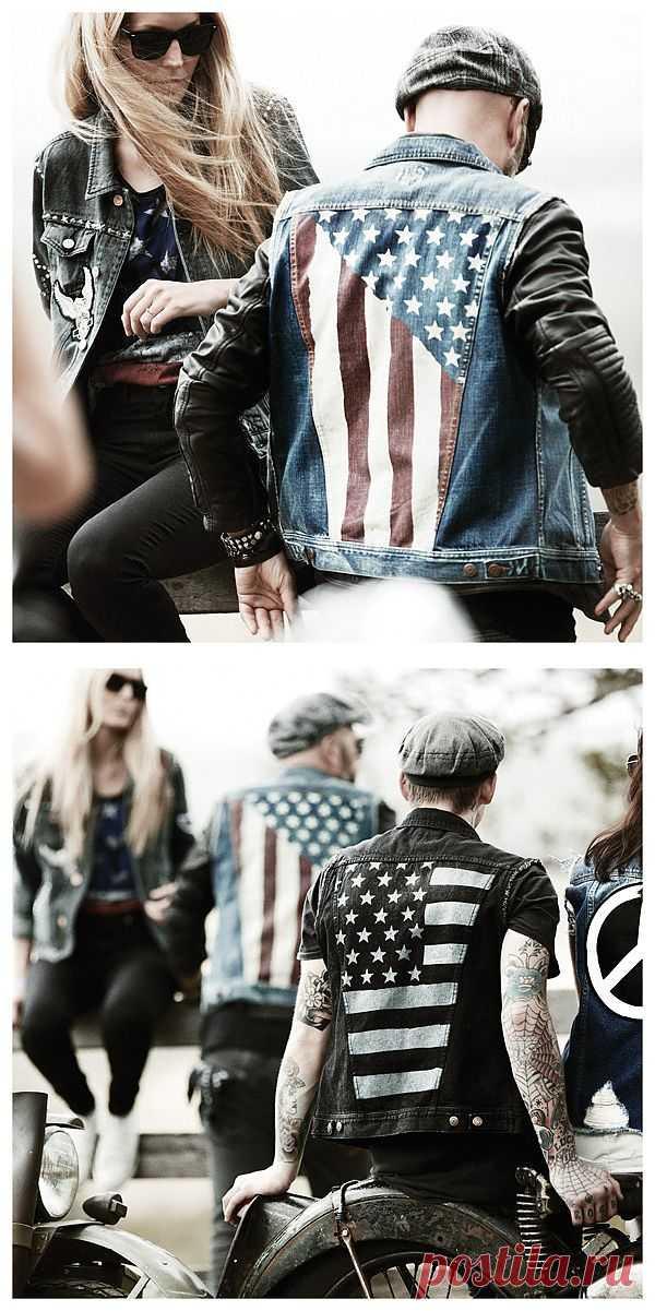 Куртки с американским флагом / Курточные переделки / Модный сайт о стильной переделке одежды и интерьера