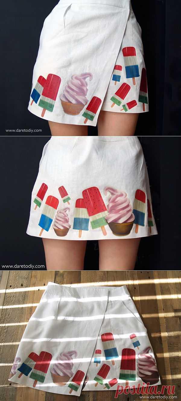 Мороженое / Рисунки и надписи / Модный сайт о стильной переделке одежды и интерьера